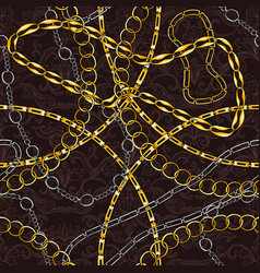 Chains hand drawn seamless pattern vector