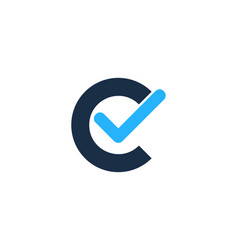 Check letter c logo icon design vector