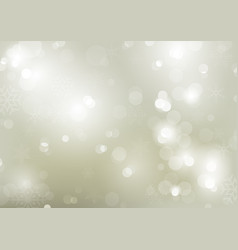Christmas bokeh background with snowflakes vector