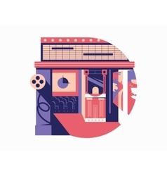 Cinema flat concept vector