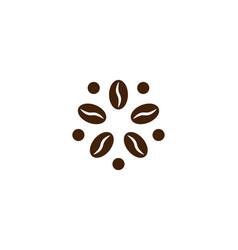 Coffee logo modern concept bean icon vector