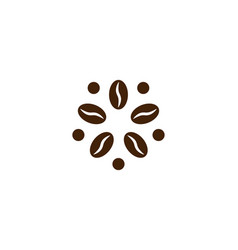 Coffee logo modern concept coffee bean icon vector
