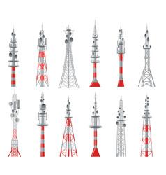 communicating radio constructions vector image