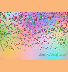 Confetti in the air backdrop vector