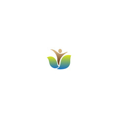 creative leaf human body symbol design vector image