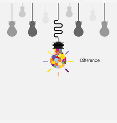 creative light bulbs logo design template vector image