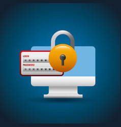 cyber security concept vector image