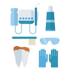 dentist stomatology equipment vector image vector image