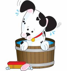 doggie bath vector image