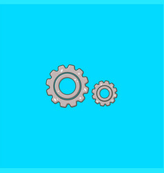 double gear logo design and symbol dan icon vector image