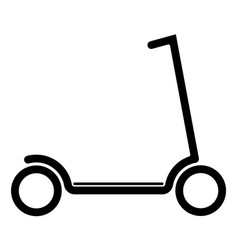 electric scooter with battery in platform vector image