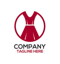 fashion and dress design logo vector image