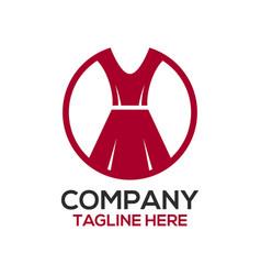 fashion and dress design logo vector image