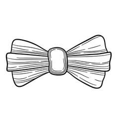 fashion bow icon hand drawn style vector image