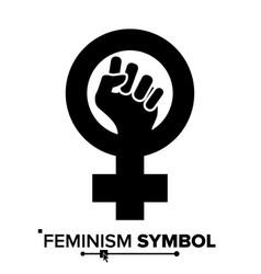 Feminism protest symbol feminism woman vector