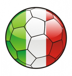 Flag of Italy on soccer ball vector