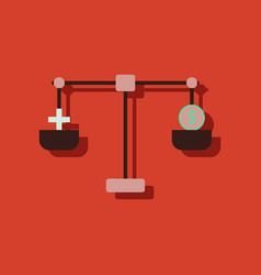 Flat icon design collection scales with cross vector