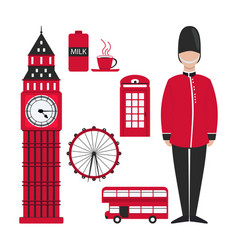 flat london for decoration design vector image