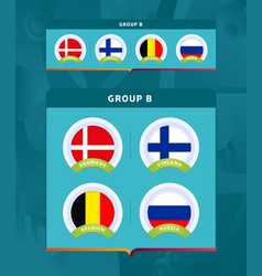 football 2020 tournament final stage group a vector image