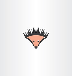 funny hedgehog icon vector image