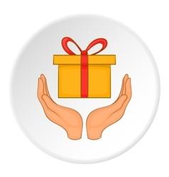 Gift logo flat style vector image