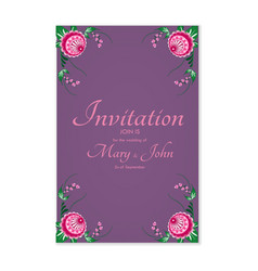 Greeting card with stylized flowers can be used vector