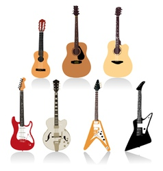 Guitar set art vector