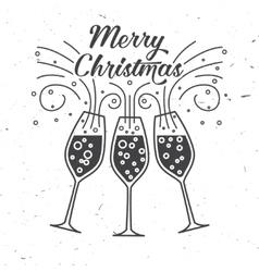 Happy New Year typography vector image