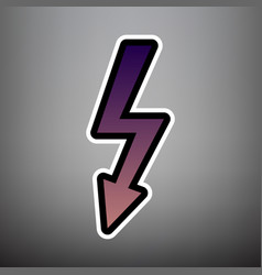 high voltage danger sign violet gradient vector image