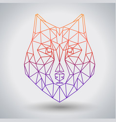 Hipster polygonal animal wolf triangle animal vector