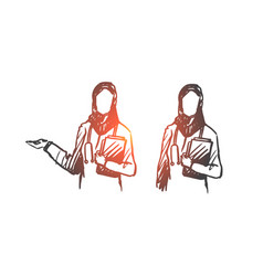 intern nurse islam clinic medicine concept vector image