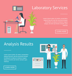 laboratory service and results vector image