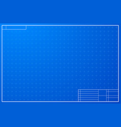 Layout template in blueprint style vector