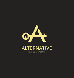 Letter a logo design corporate identity vector