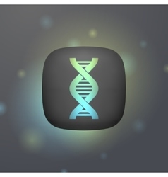 luminous DNA icon symbol vector image