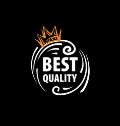 Mark of the best quality of the product vector