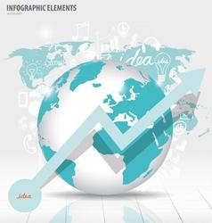 Modern world globe with application icon modern vector