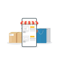 online phone store vector image