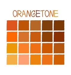 Orangetone color tone without name vector