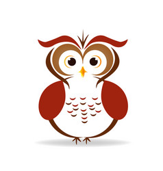 owl isolated icon vector image