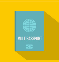 Passport icon flat style vector