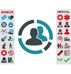 Patient Diagram Icon vector image