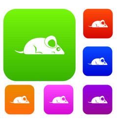 pet mouse set color collection vector image