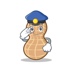 Police peanut character cartoon style vector