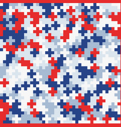 random colored abstract geometric mosaic pattern vector image