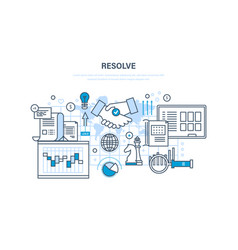 resolve solution of issues strategic planning vector image