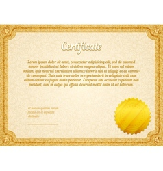 retro frame certificate template vector image