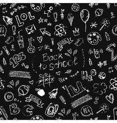 Seamless doodle school pattern vector