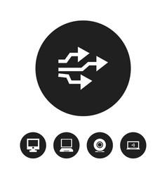 Set of 5 editable computer icons includes symbols vector