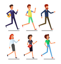 set running business people vector image
